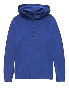 Washable Wool-Cashmere Sweater Hoodie