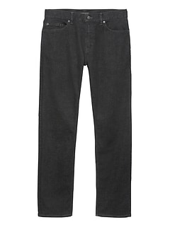 Straight Rapid Movement Denim Black Jean