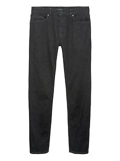 Athletic Tapered Rapid Movement Denim Black Jean