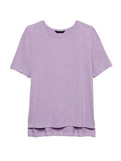 Luxespun Boyfriend T-Shirt with Side Slits