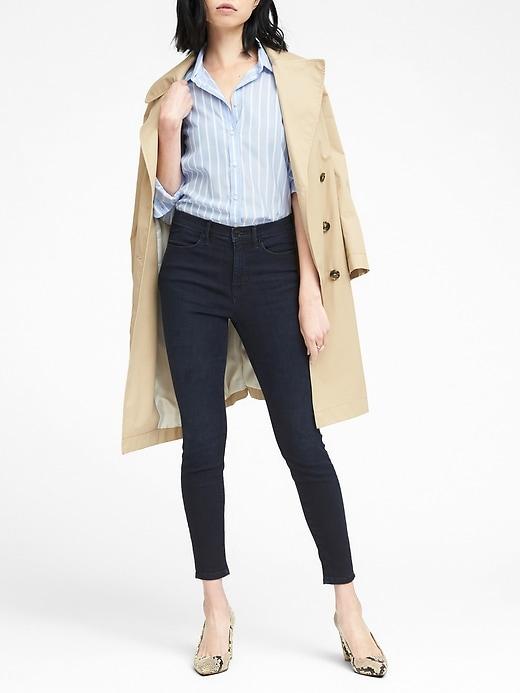 Banana Republic Womens Legging-Fit Dark Wash Jean