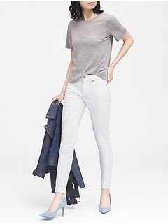 Petite Skinny Stain-Resistant Ankle Jean