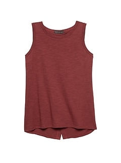 Cotton-Modal Split-Back Tank