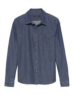 Quinn Boy-Fit Denim Shirt