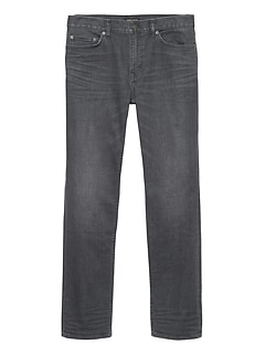 Slim Rapid Movement Denim Gray Wash Jean