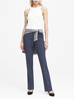 Logan Trouser-Fit Washable Italian Wool-Blend Pant