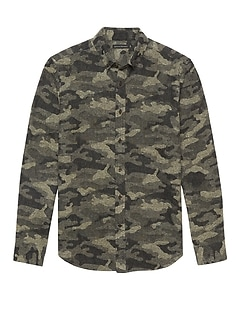 BR x Kevin Love &#124 NEW Slim-Fit Japanese Cotton Blend Camo Shirt