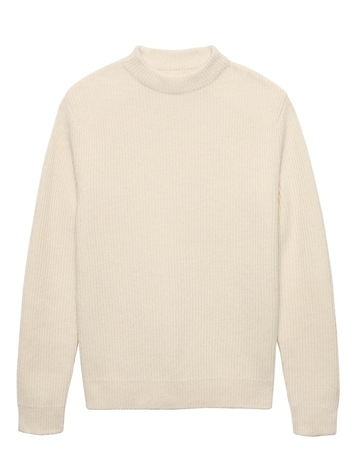 Heritage Alpaca Blend Ribbed Mock Neck Sweater by Banana Repbulic