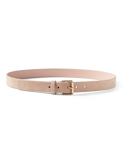 Banana Republic Womens Leather Trouser Belt Fawn Blush Pink Size L