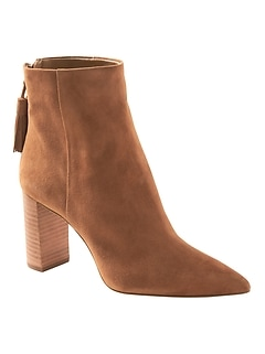 Tassel Zip High-Heel Ankle Boot