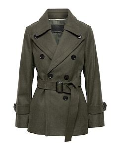 Italian Melton Short Trench Coat