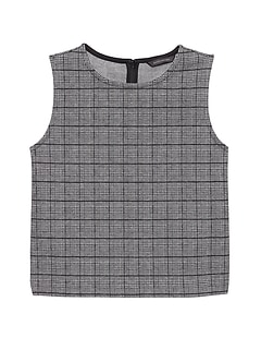 JAPAN ONLINE EXCLUSIVE Plaid Jacquard Knit Shell