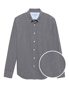 Grant Slim-Fit Luxe Poplin Plaid Shirt
