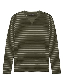 Heritage Cotton-Yak Wool Crew-Neck T-Shirt