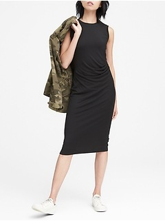 Cozy Knit Ruched-Side Sheath Dress