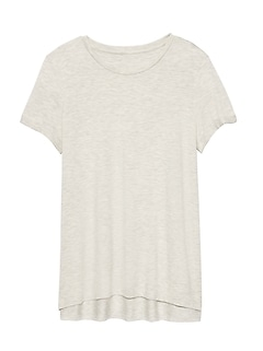 Petite Threadsoft High-Low Hem T-Shirt