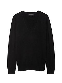 Petite Cashmere Vee Sweater