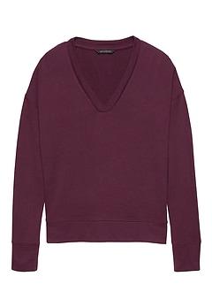 Petite Luxespun V-Neck T-Shirt