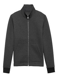 Herringbone Neoprene Full-Zip Track Jacket