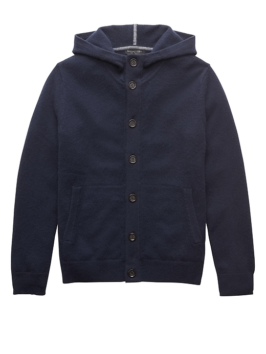 Cashmere Button Front Hoodie by Banana Repbulic