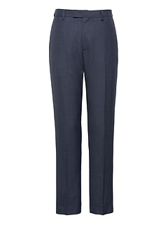 Athletic Tapered Smart-Weight Performance Wool Blend Houndstooth Suit Pant