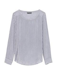 Petite Stripe Perfect Tunic Top