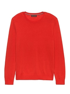 Italian Merino Wool Crew-Neck Sweater