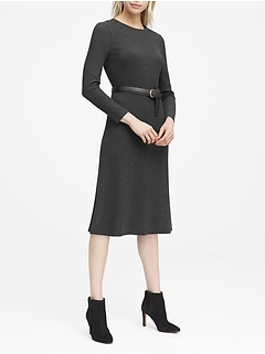JAPAN EXCLUSIVE Ribbed Midi Sweater Dress