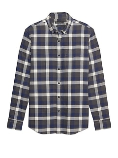 Grant Slim-Fit Luxe Flannel Plaid Shirt