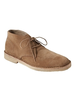 Brendt Suede Crepe-Sole Chukka Boot