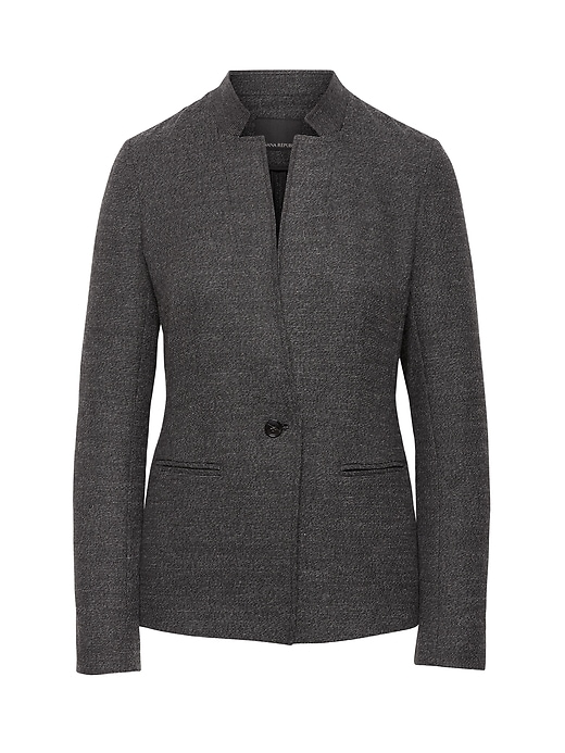 Unstructured Inverted Collar Blazer by Banana Repbulic