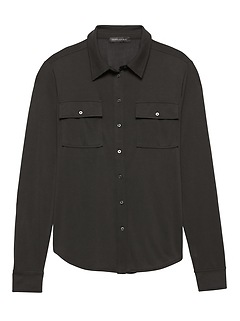Sandwash Modal Relaxed Button-Down Shirt