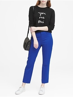 Avery Straight-Fit Washable Ankle Pant