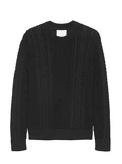 Heritage SUPIMA® Cotton Cable-Knit Crew-Neck Sweater