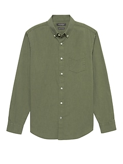 Camden Standard-Fit Heathered Oxford Shirt