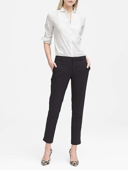 Petite Avery Straight-Fit Lightweight Wool Ankle Pant