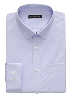 NEW Slim-Fit Tech-Stretch Cotton Solid Shirt