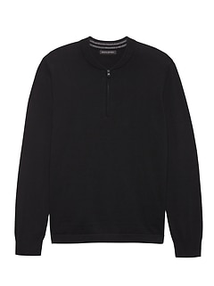 Cotton Cashmere Bomber Sweater