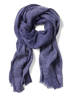 Winnie Herringbone Rectangular Scarf