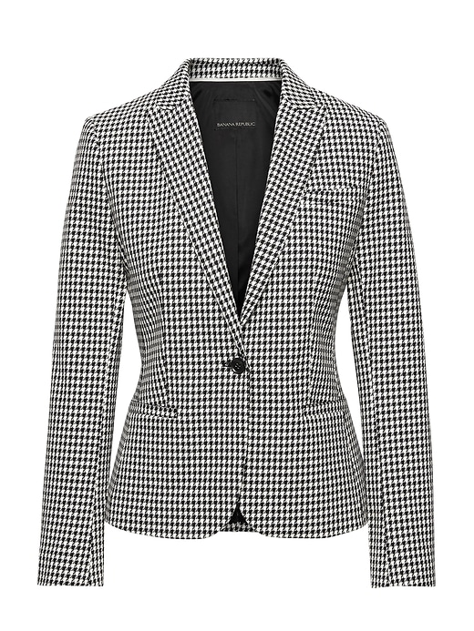 Classic Fit Bi Stretch Houndstooth Blazer by Banana Repbulic