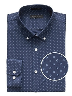 NEW Slim-Fit Tech-Stretch Cotton Floral Shirt