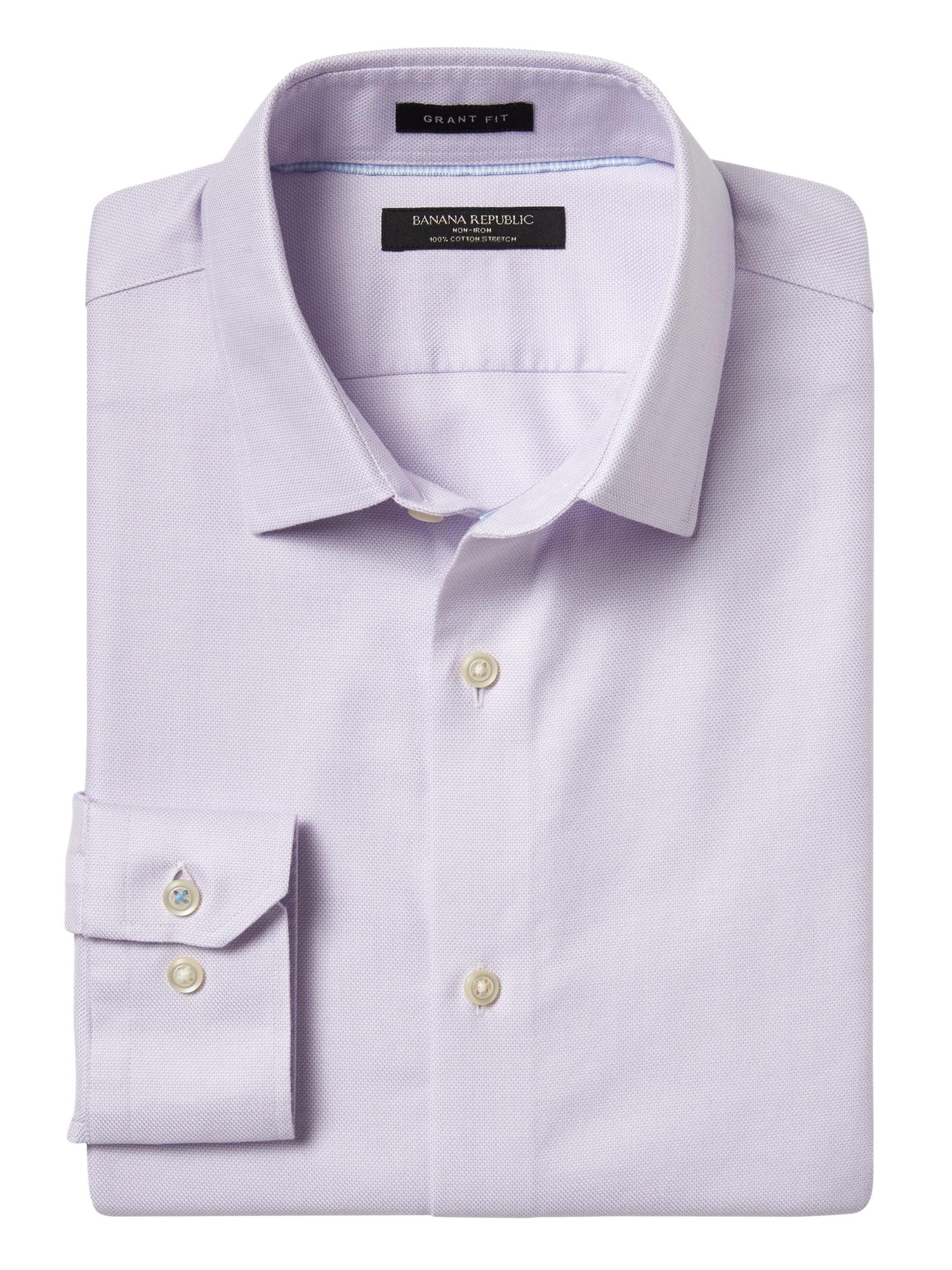 bbc7be87 Grant Slim-Fit Non-Iron Dress Shirt | Banana Republic