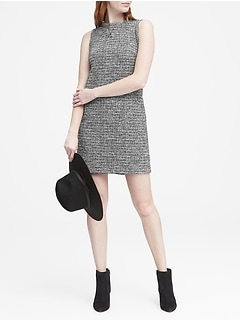 Bouclé Sporty Shift Dress
