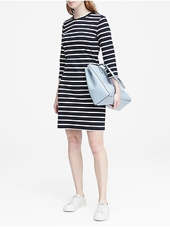 Stripe Ponte T-Shirt Dress