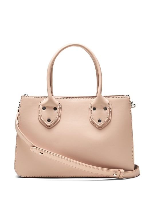Banana Republic Womens Italian Leather Satchel Tote Bag Blush Pink Size One Size