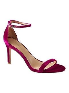 Bare High Heel Velvet Sandal