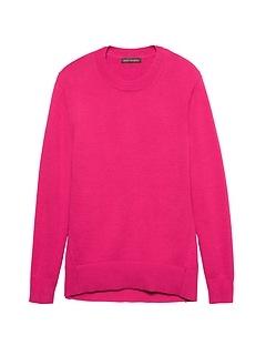 Petite Supersoft Cotton Blend V-Neck Sweater