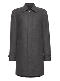 Italian Melton Wool Blend Car Coat