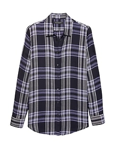 Petite Dillon Classic-Fit Plaid Flannel Shirt