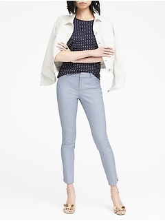 Sloan Skinny-Fit Dolphin-Hem Ankle Pant